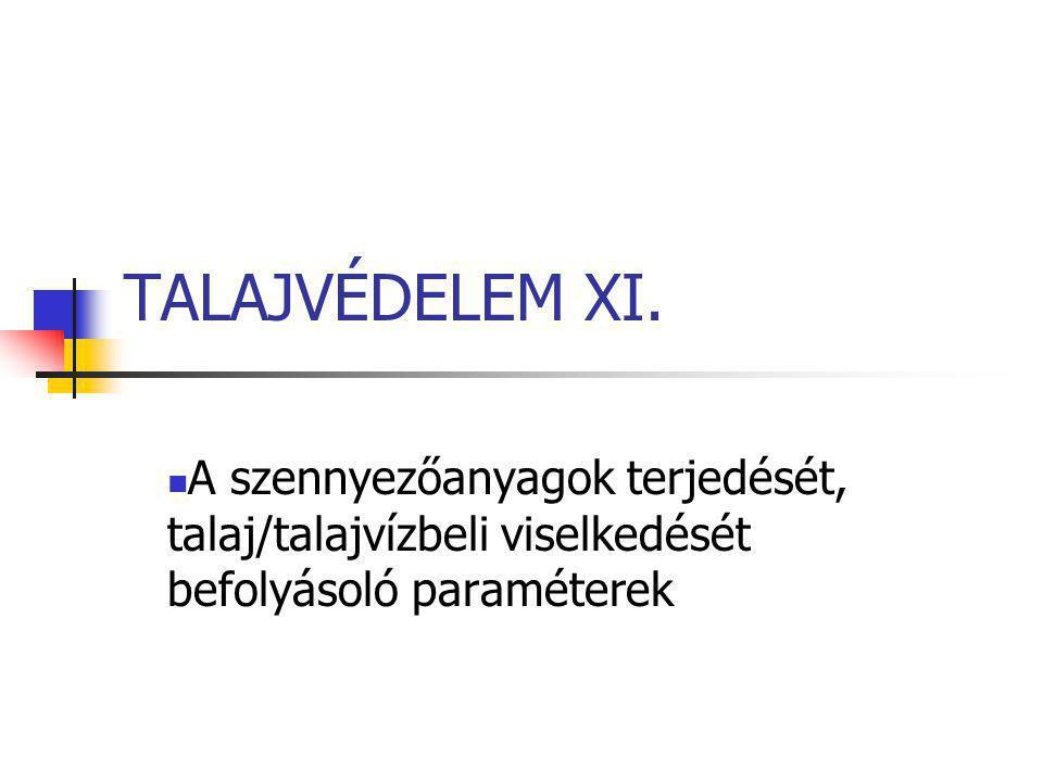 TALAJVÉDELEM XI.