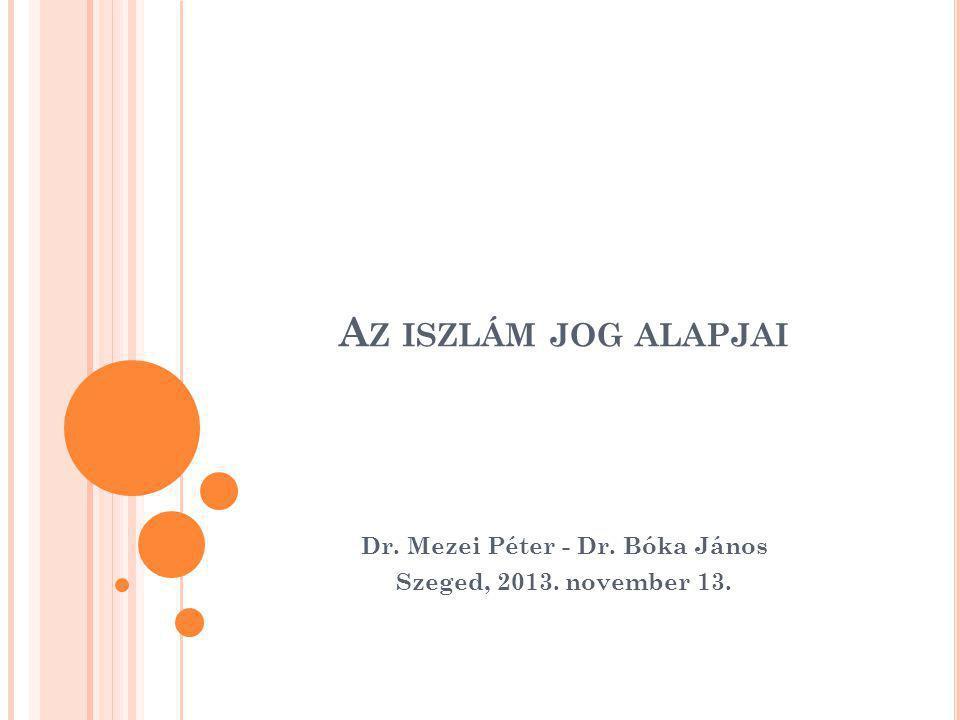 Dr. Mezei Péter - Dr. Bóka János Szeged, 2013. november 13.