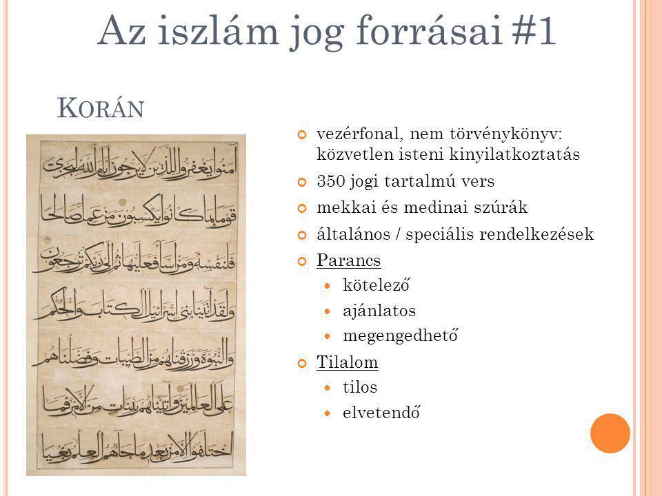 Az iszlám jog forrásai #1