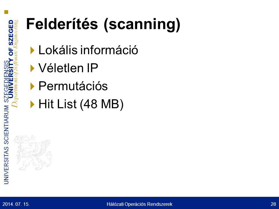 Felderítés (scanning)