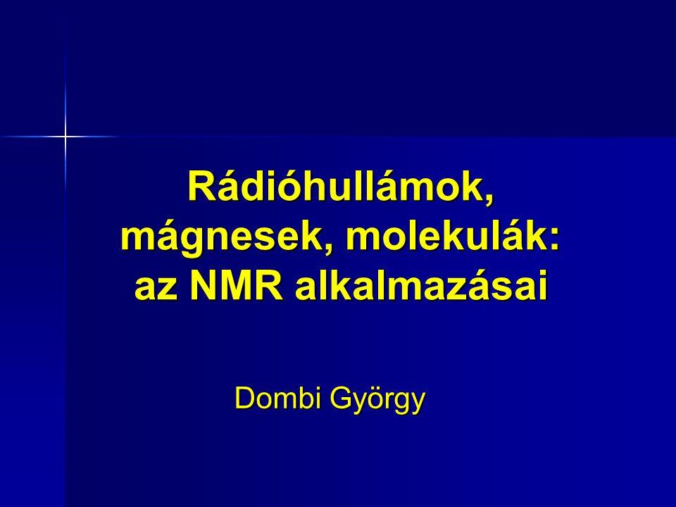 Rádióhullámok, mágnesek, molekulák: az NMR alkalmazásai