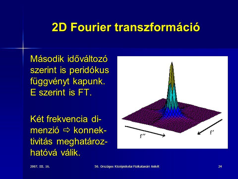 2D Fourier transzformáció