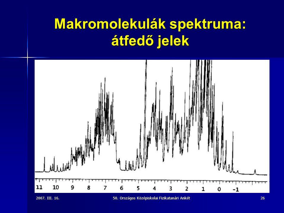 Makromolekulák spektruma: átfedő jelek
