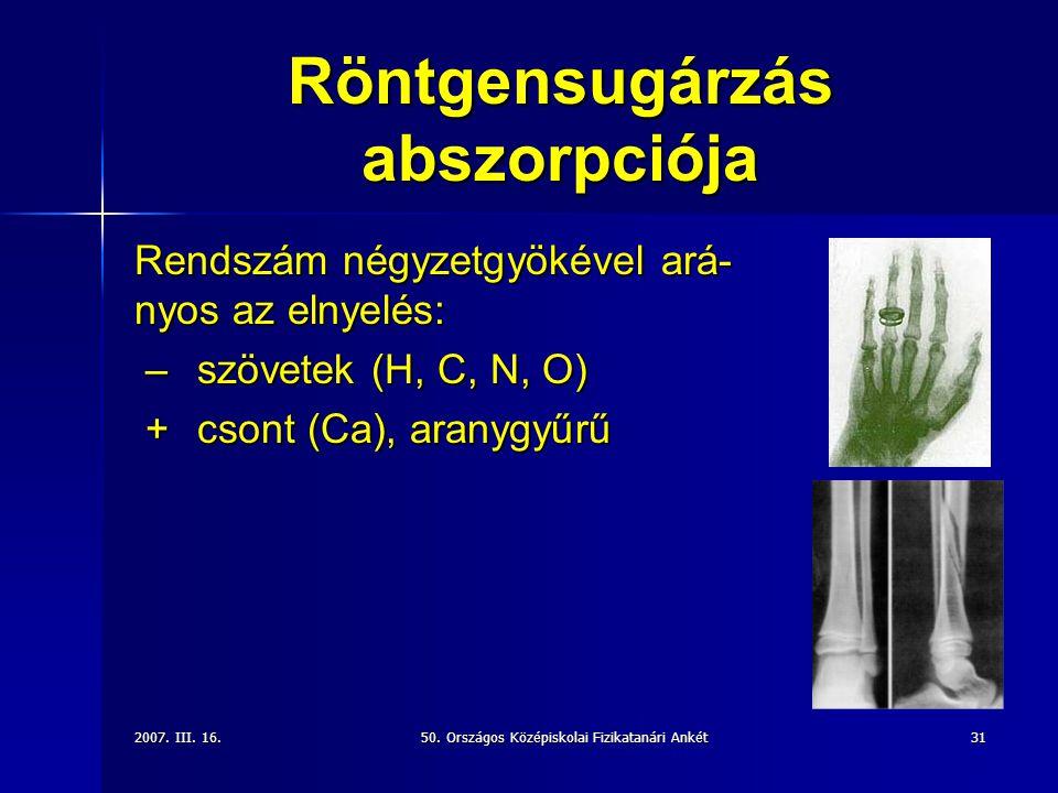 Röntgensugárzás abszorpciója