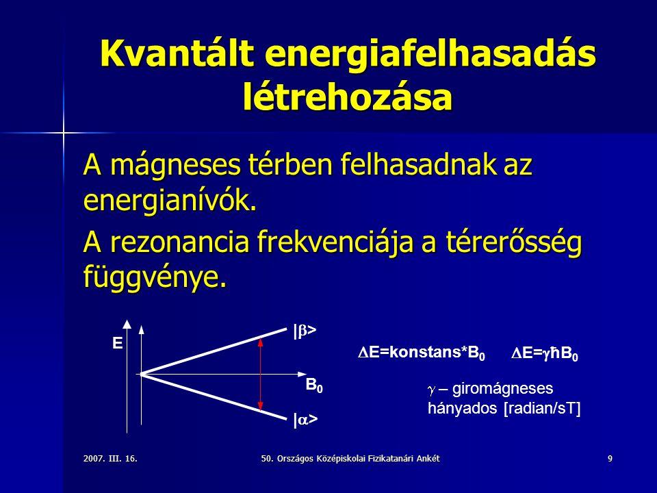 Kvantált energiafelhasadás létrehozása