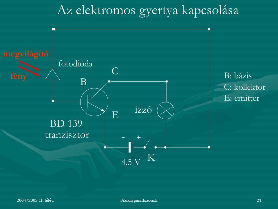 Az elektromos gyertya kapcsolása