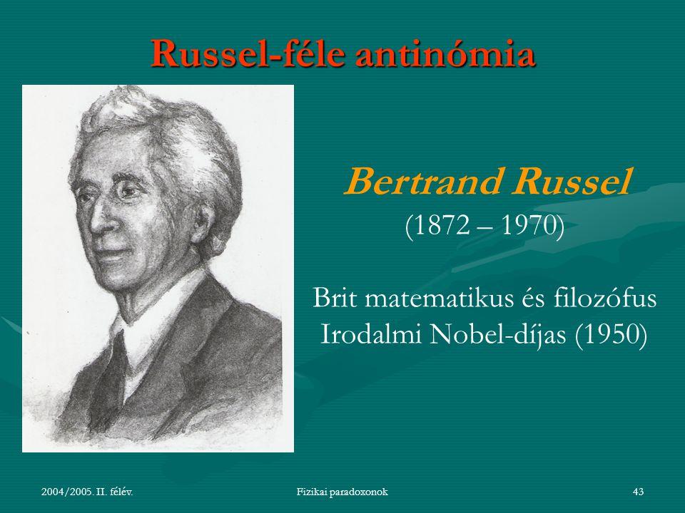 Russel-féle antinómia