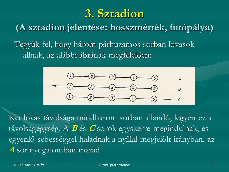 3. Sztadion (A sztadion jelentése: hosszmérték, futópálya)