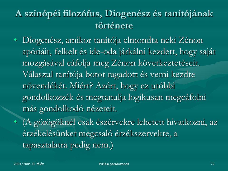 A szinópéi filozófus, Diogenész és tanítójának története