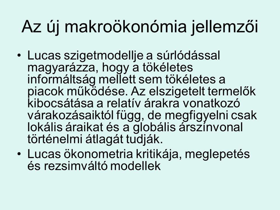 Az új makroökonómia jellemzői