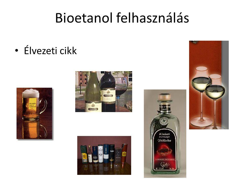 Bioetanol felhasználás