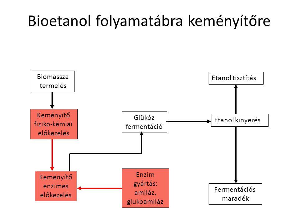 Bioetanol folyamatábra keményítőre