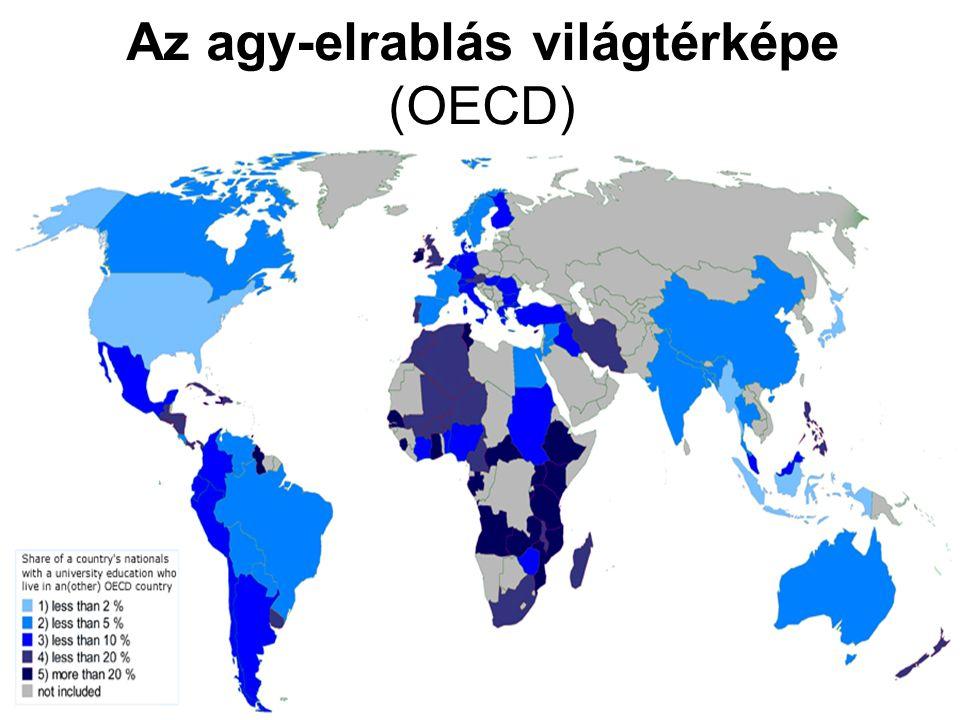 Az agy-elrablás világtérképe (OECD)