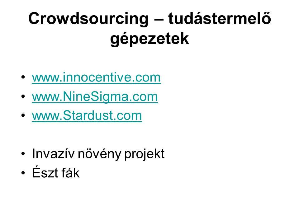 Crowdsourcing – tudástermelő gépezetek