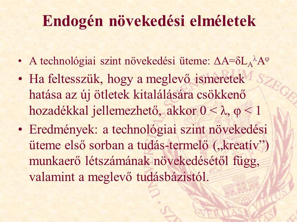 Endogén növekedési elméletek