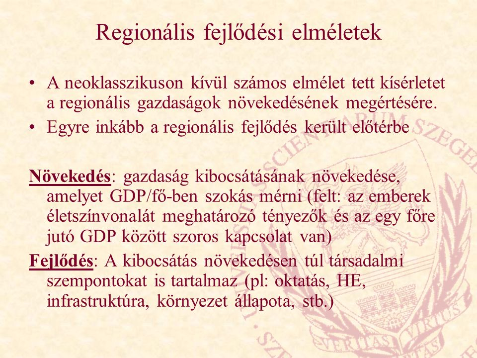 Regionális fejlődési elméletek