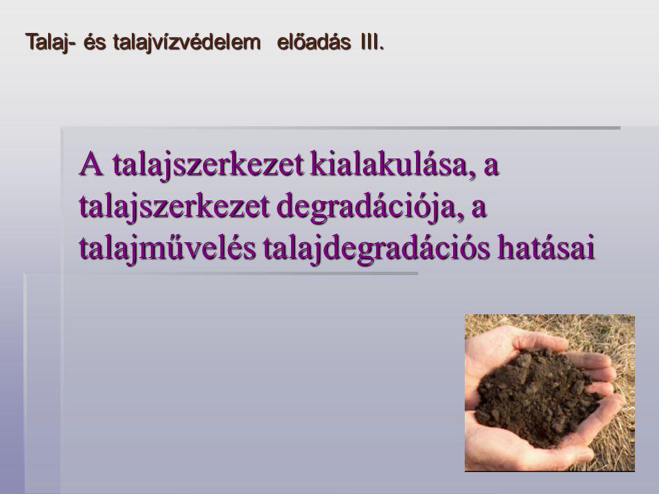 Talaj- és talajvízvédelem előadás III.