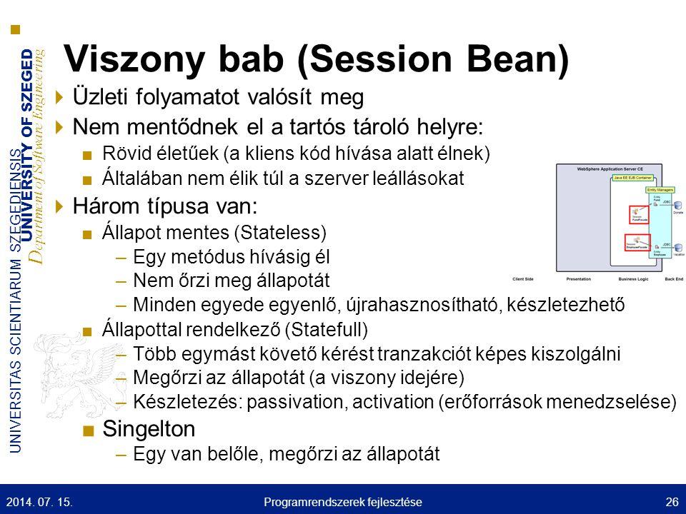 Viszony bab (Session Bean)