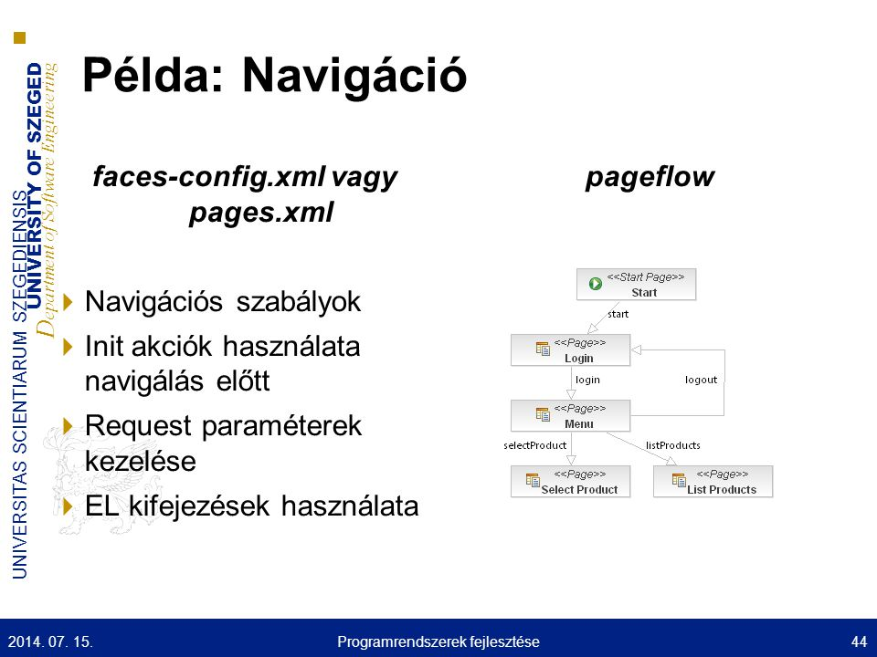 faces-config.xml vagy pages.xml