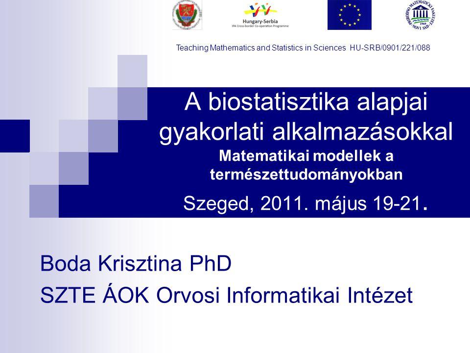 Boda Krisztina PhD SZTE ÁOK Orvosi Informatikai Intézet
