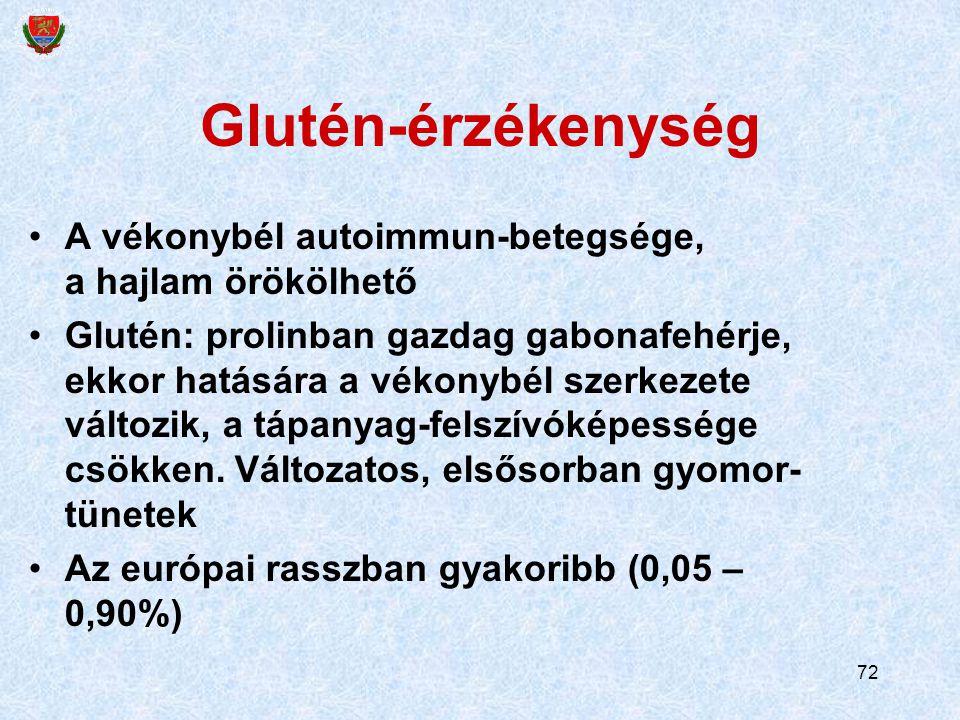 Glutén-érzékenység A vékonybél autoimmun-betegsége, a hajlam örökölhető.