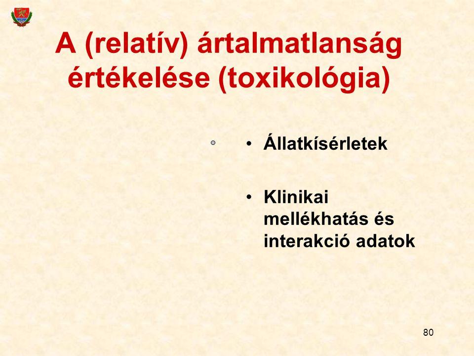 A (relatív) ártalmatlanság értékelése (toxikológia)
