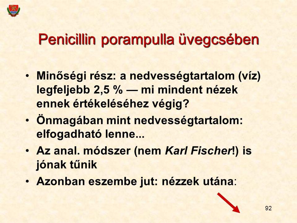 Penicillin porampulla üvegcsében