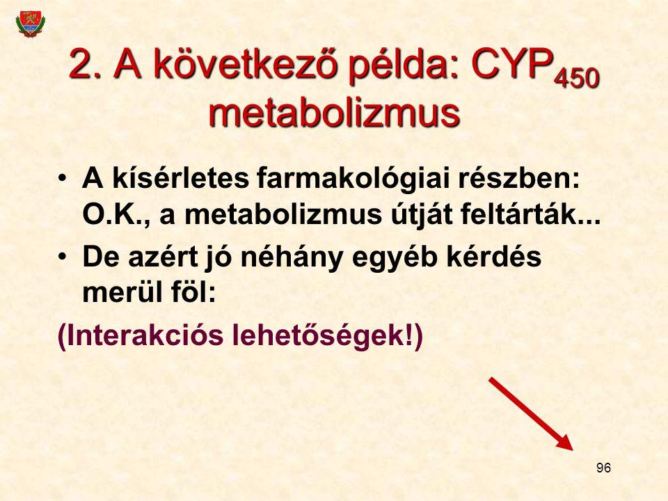 2. A következő példa: CYP450 metabolizmus
