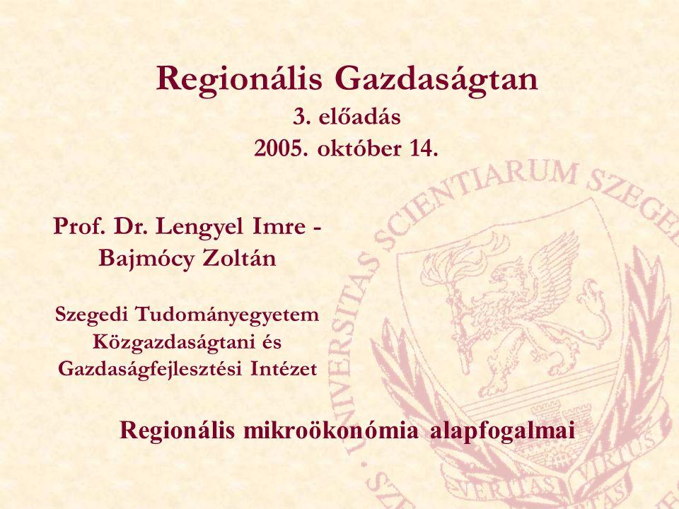 Regionális Gazdaságtan