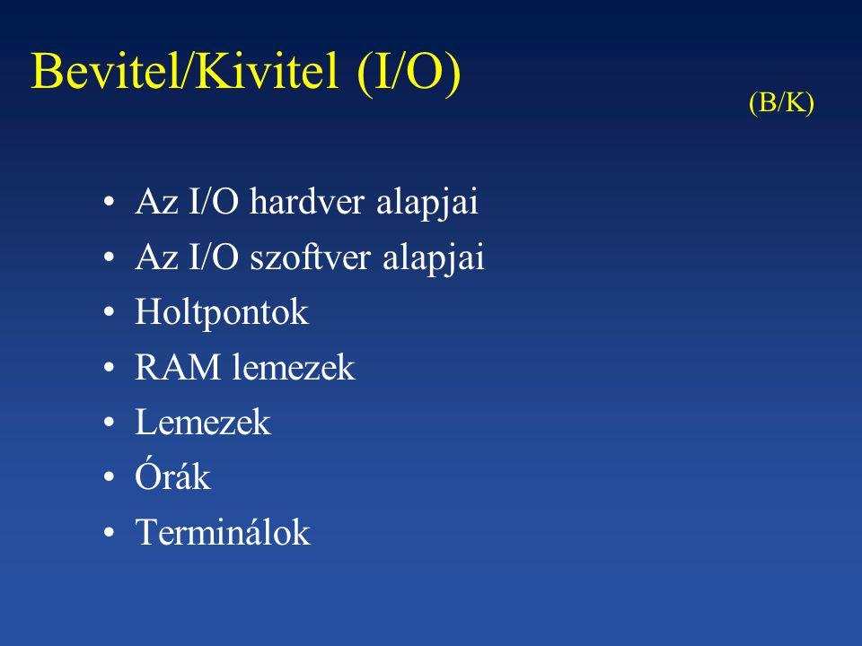 Bevitel/Kivitel (I/O)