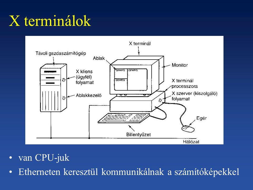 X terminálok van CPU-juk