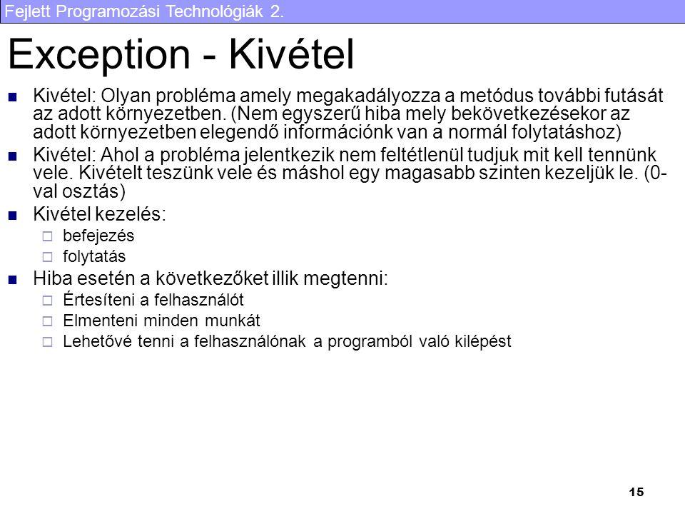 Exception - Kivétel