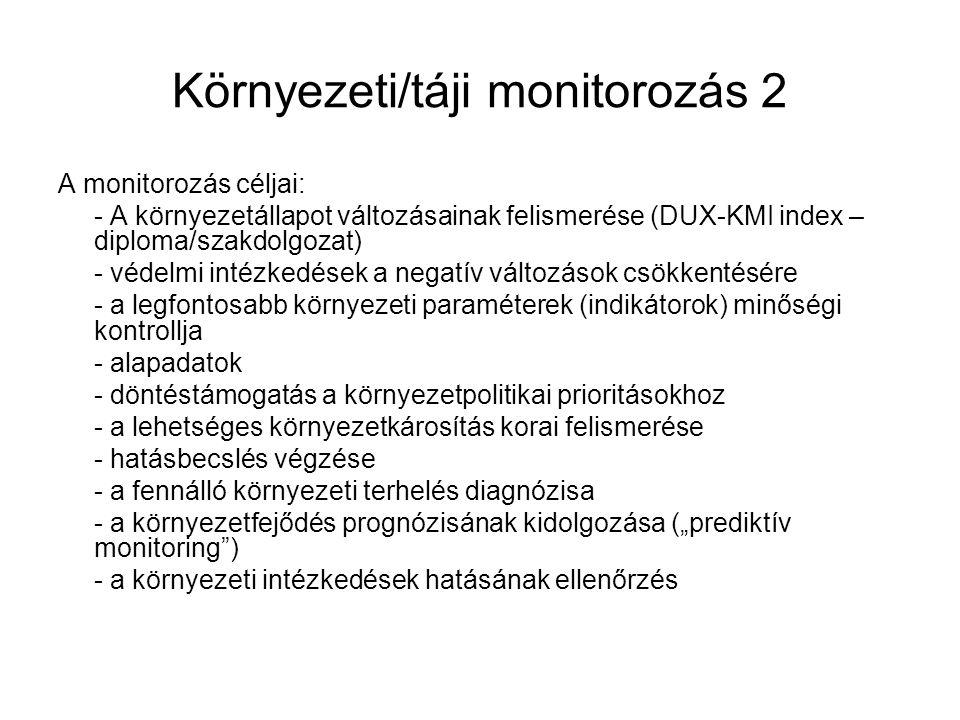 Környezeti/táji monitorozás 2