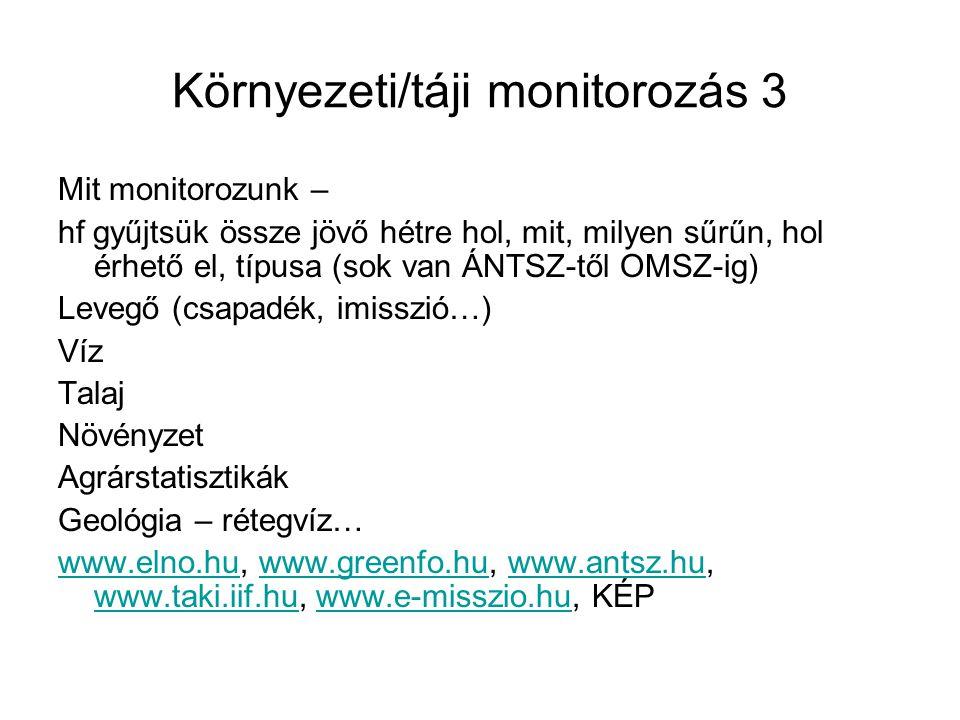Környezeti/táji monitorozás 3