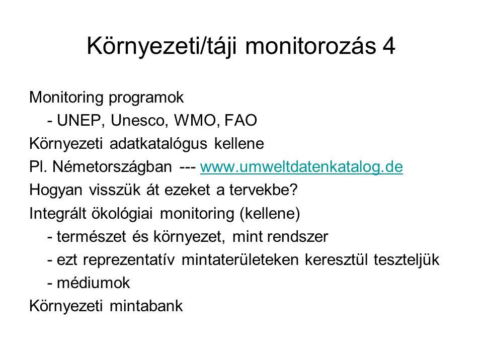 Környezeti/táji monitorozás 4