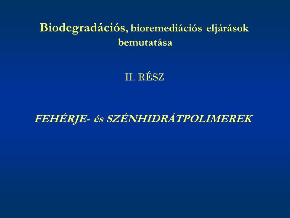 Biodegradációs, bioremediációs eljárások