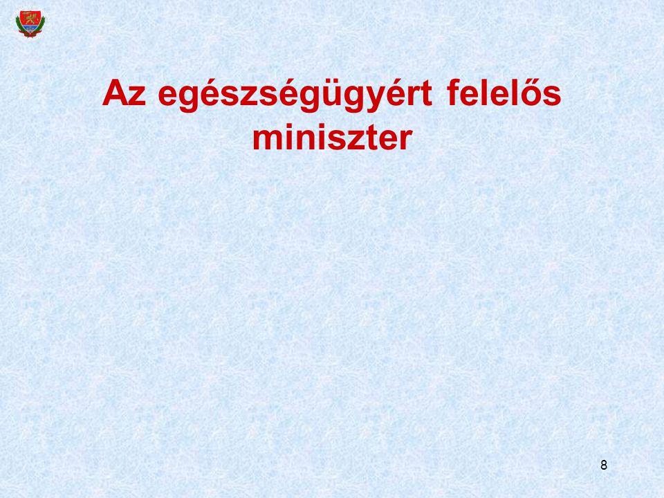 Az egészségügyért felelős miniszter