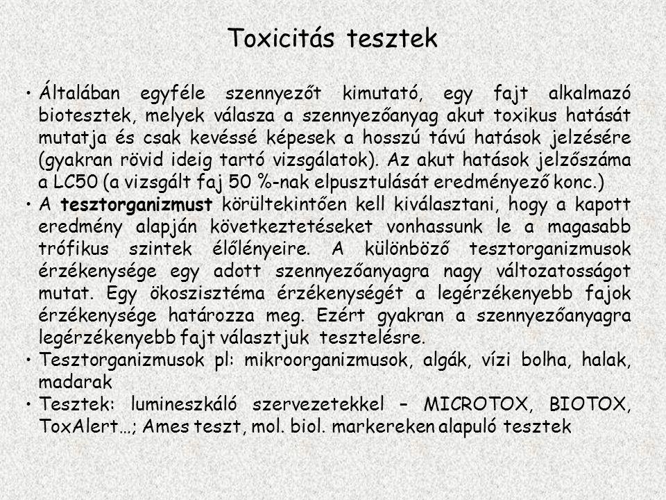 Toxicitás tesztek