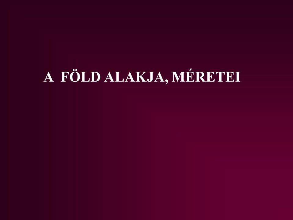 A FÖLD ALAKJA, MÉRETEI