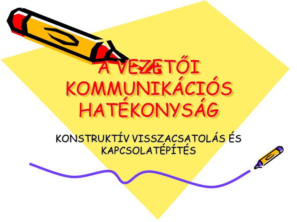 A VEZETŐI KOMMUNIKÁCIÓS HATÉKONYSÁG