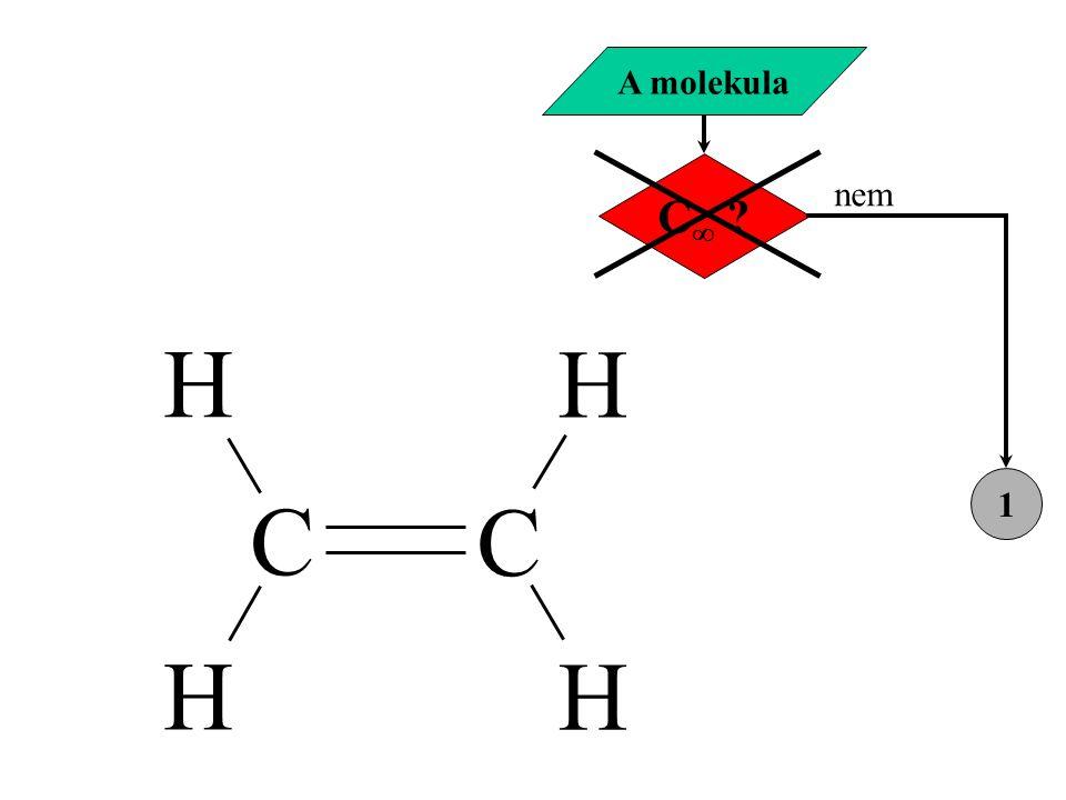 A molekula C nem 1 H C