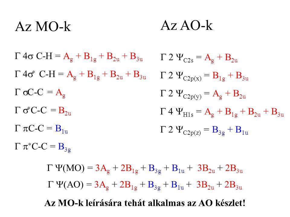 Az MO-k leírására tehát alkalmas az AO készlet!