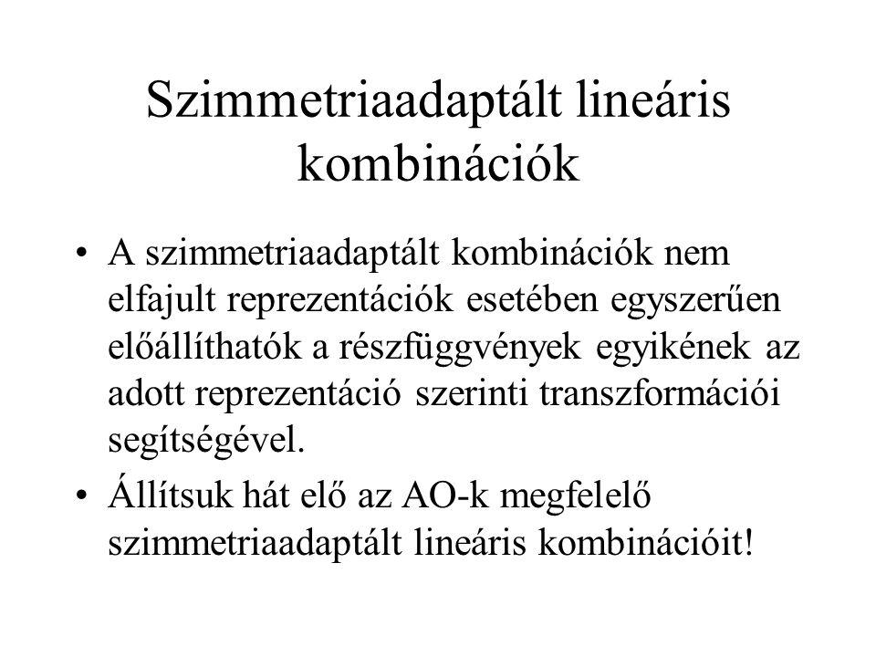 Szimmetriaadaptált lineáris kombinációk