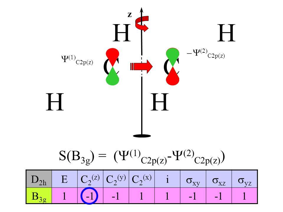 S(B3g) = (Y(1)C2p(z)-Y(2)C2p(z))