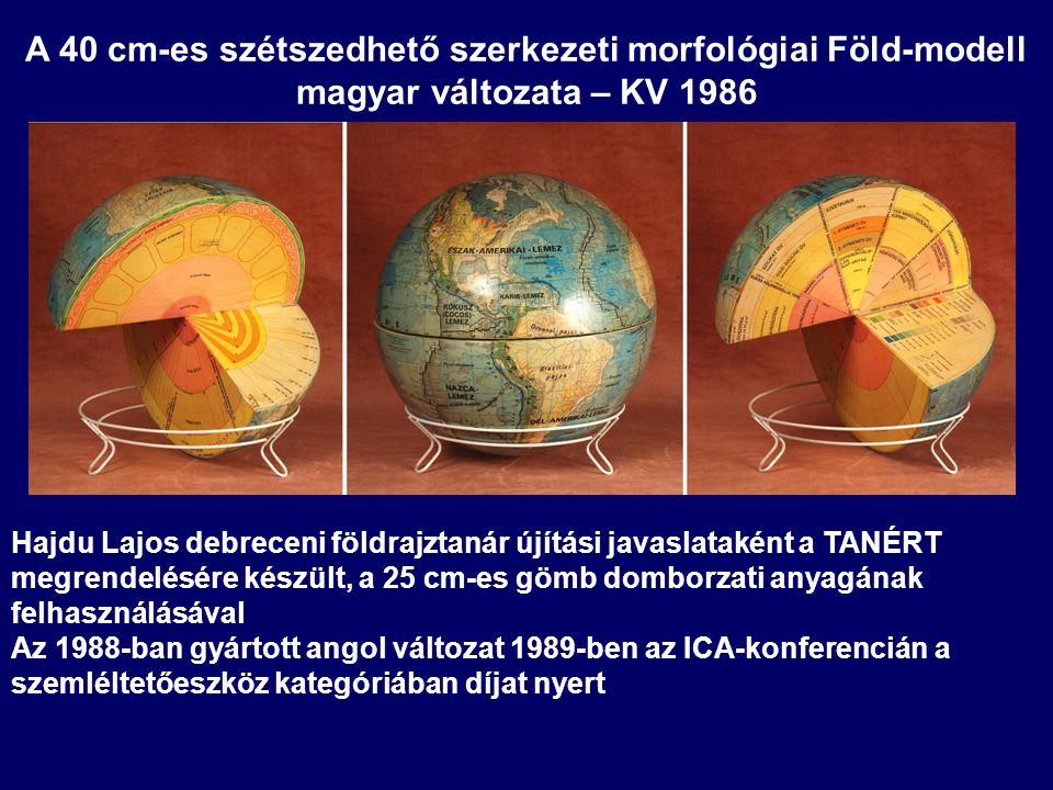 A 40 cm-es szétszedhető szerkezeti morfológiai Föld-modell