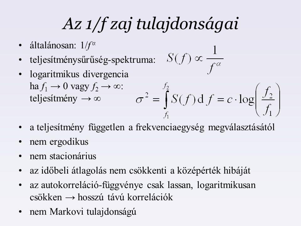 Az 1/f zaj tulajdonságai