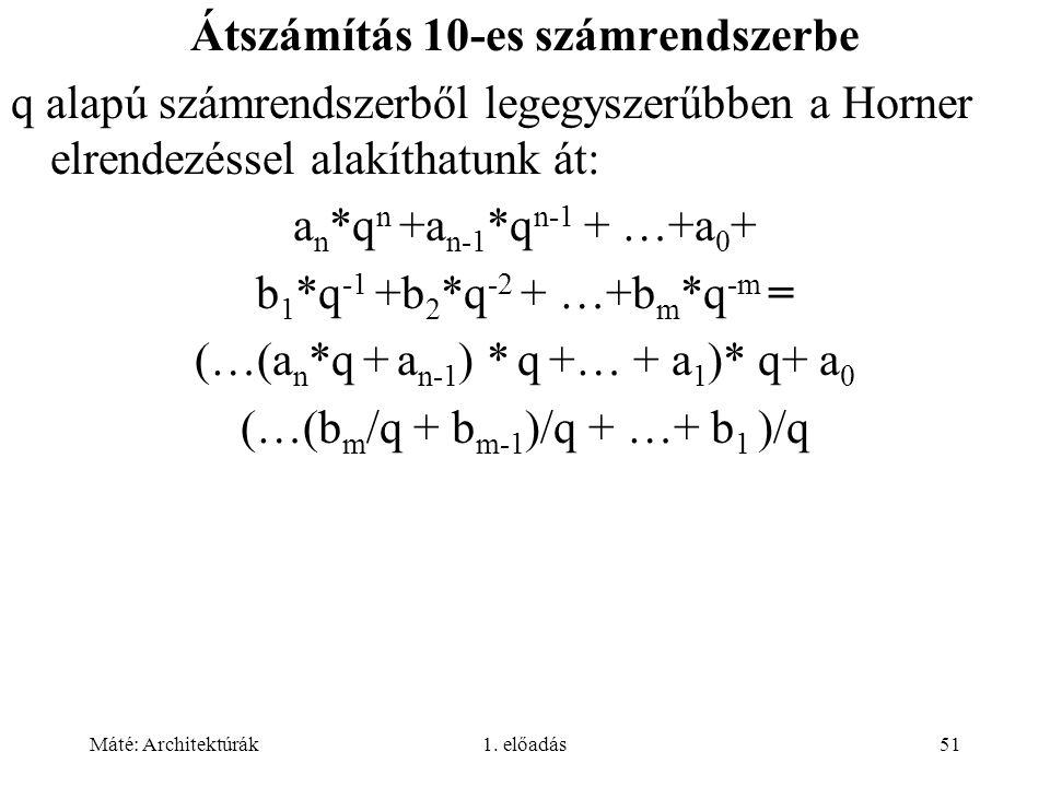 Átszámítás 10-es számrendszerbe