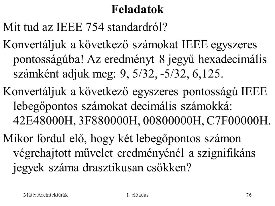 Mit tud az IEEE 754 standardról