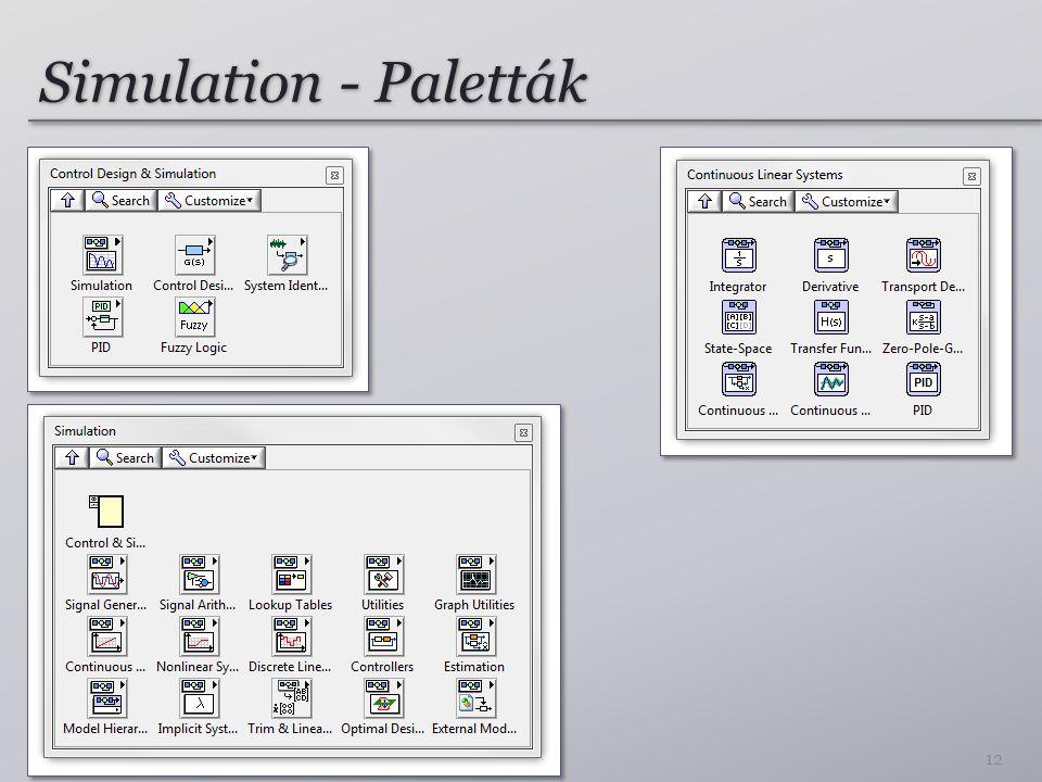 Simulation - Paletták