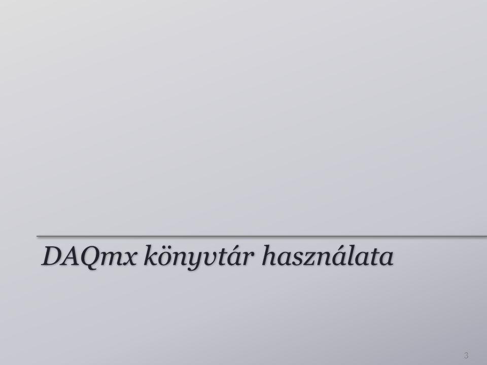 DAQmx könyvtár használata